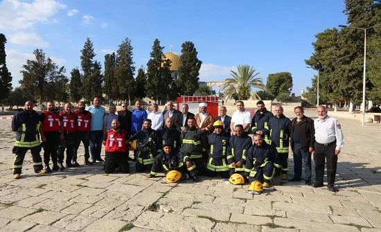 الاردن يعقد دورة تدريبية لطواقم إطفاء المسجد الأقصى في القدس
