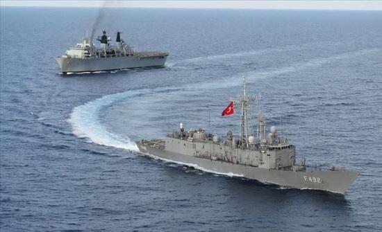 البحرية التركية ونظيرتها البريطانية تجريان تدريبات في المتوسط