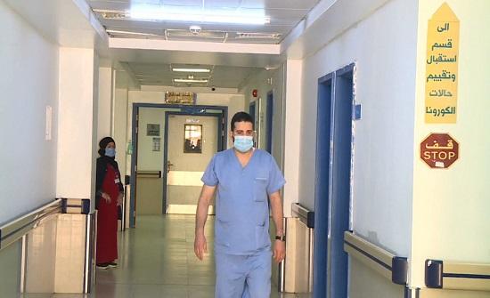 نسبة الإشغال في قسم العزل في مستشفى جرش الحكومي 100%