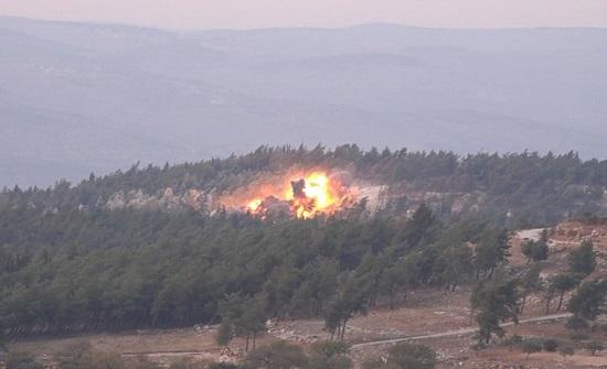 قصف روسي جوي وصاروخي بعيد المدى على غرب إدلب
