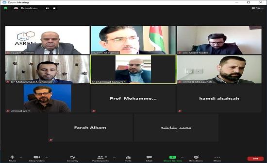 انعقاد استشاري كلية العلوم الحاسوبية والمعلوماتية في جامعة عمان العربية