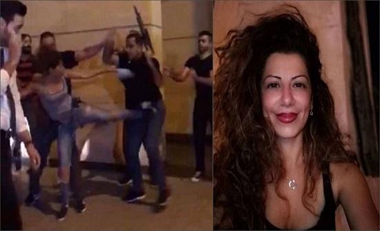 """بالفيديو والصور : لبنان..""""صاحبة الركلة الشهيرة"""" تدخل القفص الذهبي في ساحة المظاهرات"""