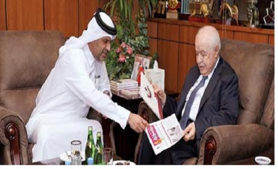 أبوغزاله يبحث التعاون مع دار الشرق القطرية في مجالات الإعلام والمسؤولية المجتمعية