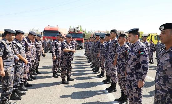 اللواء البزايعة يتفقد مديريتي دفاع مدني الزرقاء والمفرق