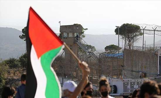 تظاهرة وسط الضفة دعما للمعتقلين في سجون إسرائيل