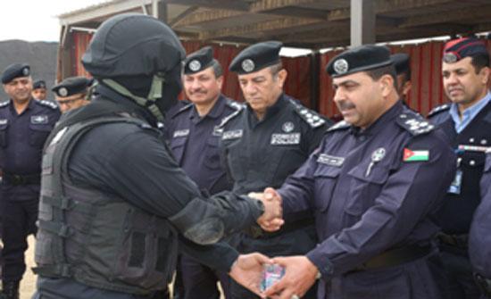 مديرية الامن العامة تحتفل بتخريج دورة المهارات الأمنية الخاصة