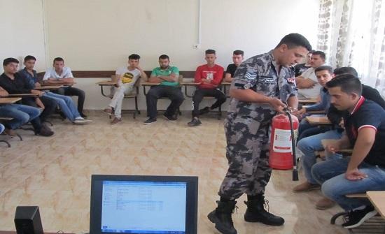 دفاع مدني الطفيلة تنظم برنامج تدريبي للعاملين والمتدربين في مركز التدريب المهني