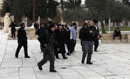 مستوطنون يقتحمون الأقصى واعتقالات بالضفة وأراضي 48