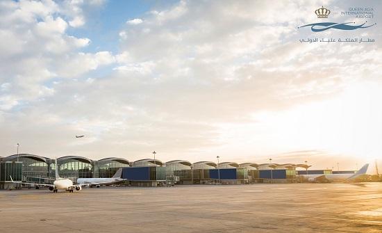 مطار الملكة علياء يستقبل 722 ألف مسافر الشهر الماضي