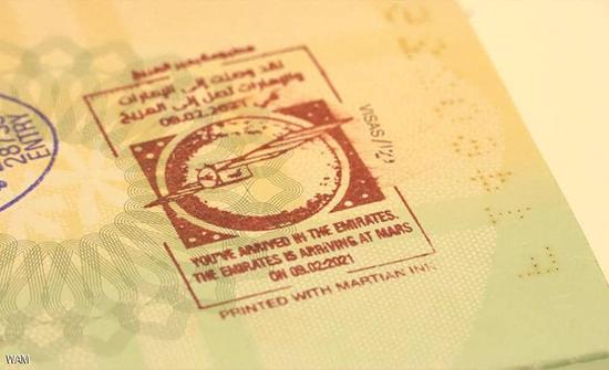"""""""ختم المرّيخ"""" يرحب بالقادمين لمطارات دبي .. صور"""