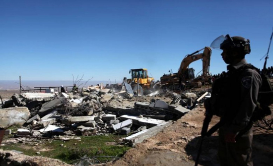 الاحتلال الاسرائيلي يهدم 3 منشآت زراعية جنوب نابلس