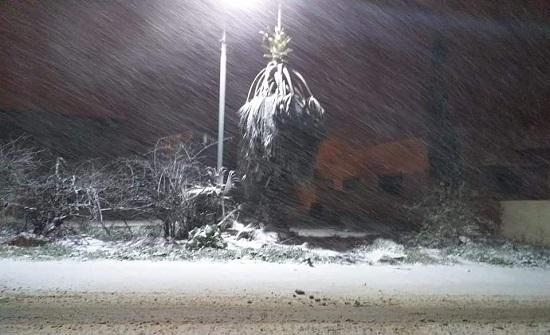 عجلون: تواصل تساقط الثلوج وعمليات فتح الطرق