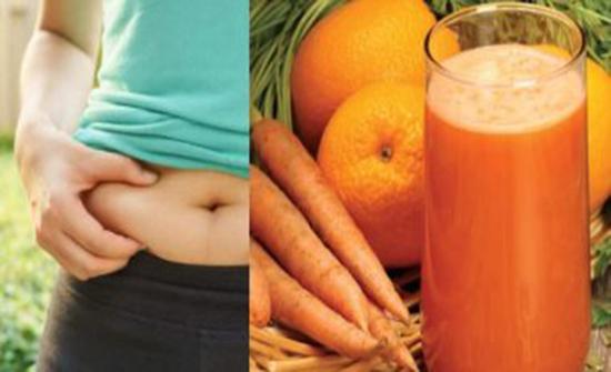 الزنجبيل وعصير البرتقال والجزر لتقليل دهون البطن