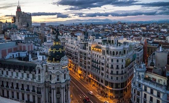 """شاهد.. طقوس """"كورونا"""" في مدريد!"""