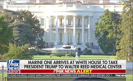 """البيت الأبيض: ترامب سينتقل إلى جناح خاص بمركز """"والتر ريد"""" الطبي العسكري احترازيا"""
