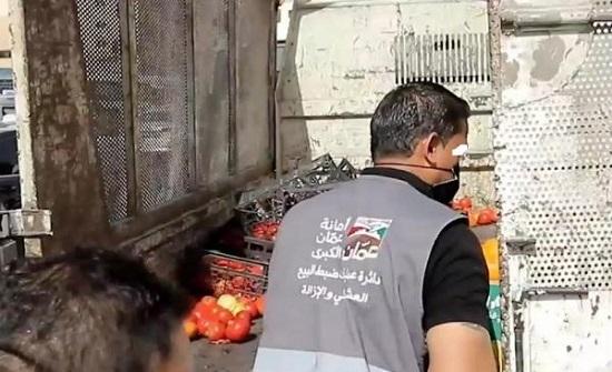 أمانة عمان: نرفض التعامل غير اللائق مع بسطات البيع العشوائي