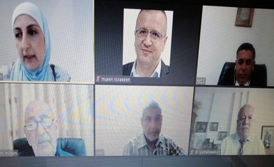 """مناقشة رسالةالماجستير رقم (34) عن بعد في """"عمان العربية"""""""
