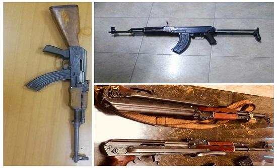 مصدر أمني : ضبط 16 سلاحاً نارياً 8 منها اوتوماتيكية .. بالصور