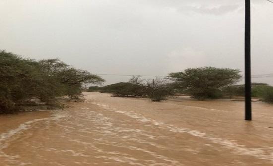 السعودية تشهد أمطارًا مبكرة (فيديو )