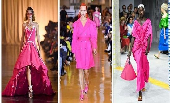 اللون الزهري يطغى على موضة ربيع وصيف 2020 من منصات العروض