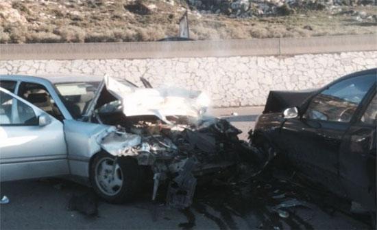 5 إصابات اثر حادث تصادم في  مادبا