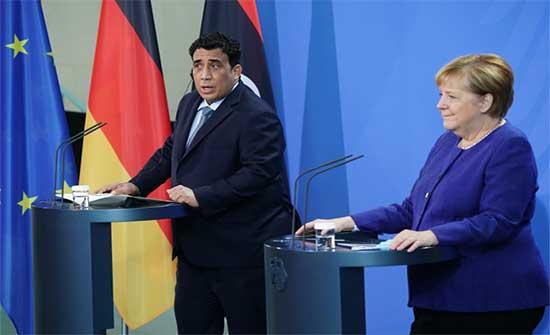 ليبيا.. المنفي: حريصون على إجراء الانتخابات بموعدها وميركل تؤكد التزام ألمانيا بدعم ليبيا