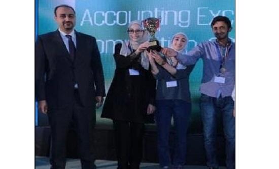 طلبة المحاسبة في (الأردنية) يتألقون في مسابقة التميز المحاسبي ويحصدون المركز الثاني