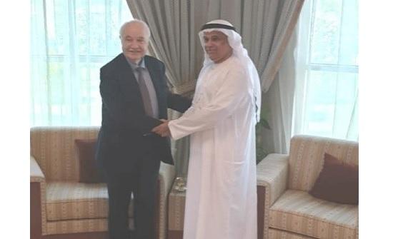 """صالح الشرقي يستقبل رئيس """"أبوغزاله العالمية"""""""