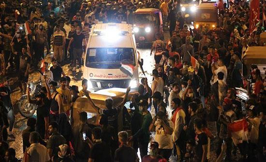 """""""حقوق الإنسان"""" العراقية: مقتل 3 أشخاص في ثاني أيام الاحتجاجات"""
