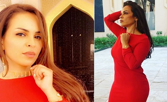 والدة حلا تعرض نفسها للسخرية .. وتحدث ضجة كبيرة بفستان احمر