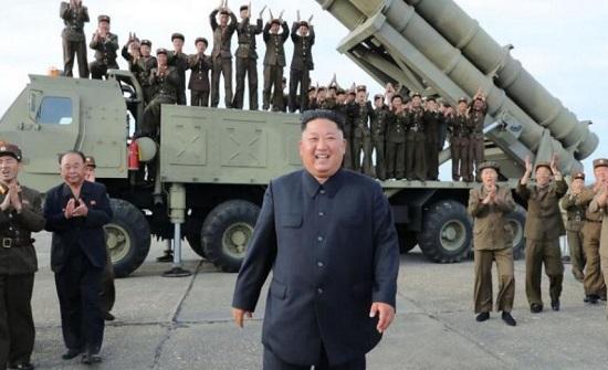 كوريا الشمالية تختبر قاذفة صواريخ متعددة الفوهات