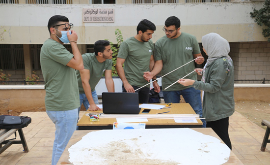 مسابقة بناء الجسور في (الأردنية)...من النظرية إلى التطبيق