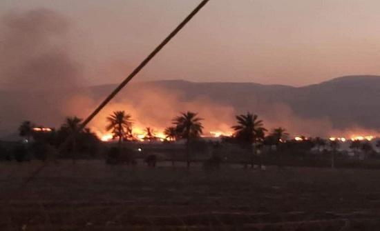 الدفاع المدني يحول دون امتداد حريق من الجانب الاسرائيلي الى الأراضي الأردنية