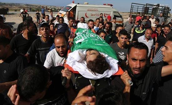 استشهاد فتى فلسطيني برصاص إسرائيلي على حدود غزة