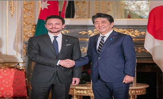 ولي العهد يلتقي رئيس الوزراء الياباني