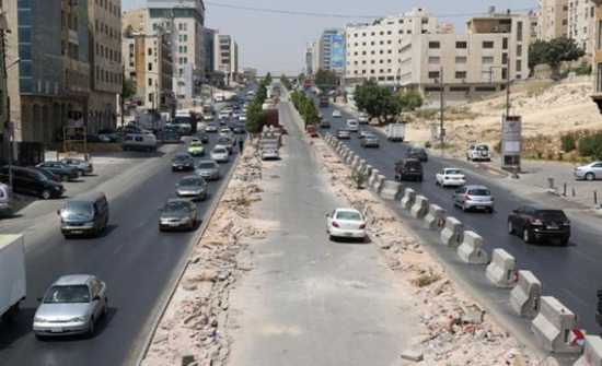 35 % نسبة الإنجاز في مشروع حافلات التردد السريع بين عمان والزرقاء