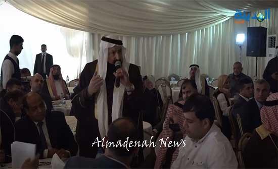 شاهد .. الشيخ عبد القادر الفناطسة : نحن وجميع شيوخ ووجهاء وعشائر الاردن خلف جلالة الملك