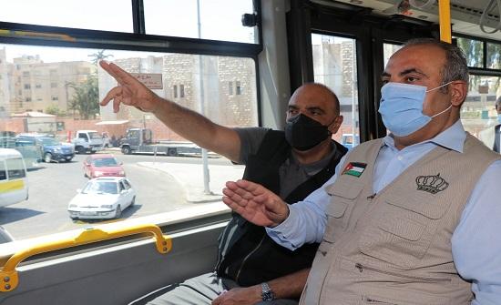 الخصاونة من داخل الباص السريع: منجز ملموس