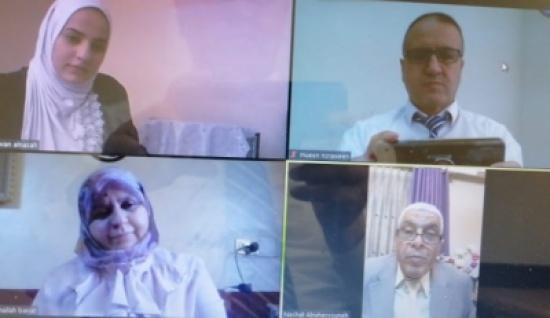 """مناقشة رسالة الماجستير رقم (37) عن بعد في """"عمان العربية"""""""