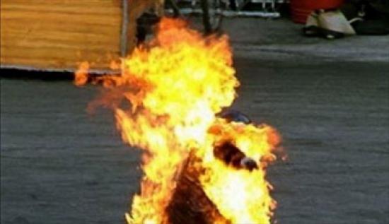 شخص من جنسية عربية يحرق نفسه بمحيط الدوار الرابع