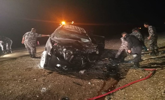 بالصور : 3 وفيات بحادث مروع على الصحراوي