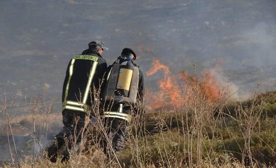 الدفاع المدني يتعامل مع 170 حريقا للغطاء النباتي