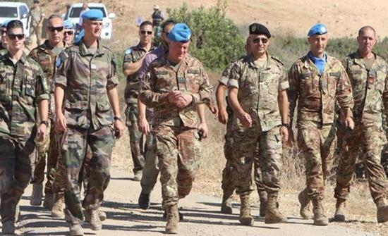 مناورة عسكرية بين اليونيفيل والجيش اللبناني قرب الحدود اللبنانية الجنوبية