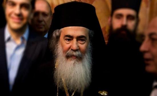 البطريرك ثيوفيلوس يدين محاولة حرق الكنيسة الجثمانية بالقدس