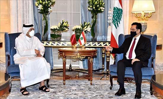 دياب يبحث مع وزيري دفاع وخارجية قطر مستجدات الأوضاع في لبنان