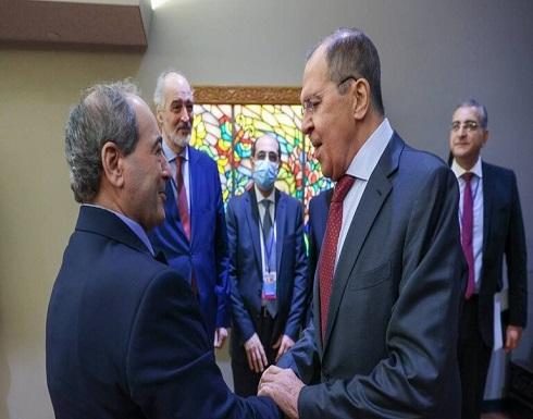 لافروف يؤكد للمقداد دعم روسيا المبدئي لسيادة سوريا