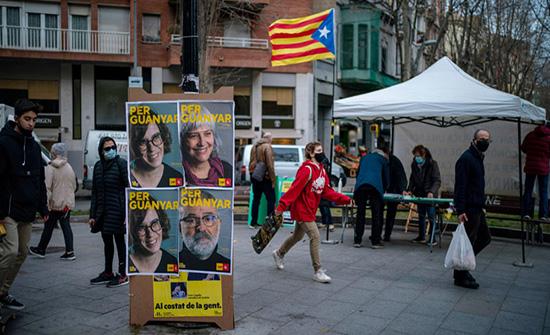 انتخابات إقليم كاتالونيا تنطلق وسط أجواء سياسية وصحية متلبدة