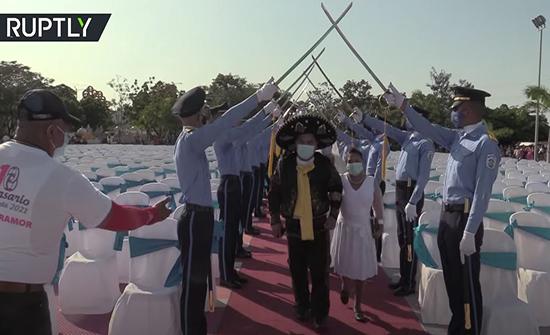فيديو: زواج جماعي في نيكاراغوا بمناسبة عيد الحب