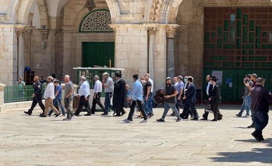 مستوطنون يقتحمون الأقصى واعتداءات للاحتلال بالضفة (شاهد)