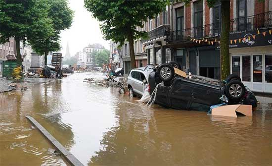 ارتفاع ضحايا الفيضانات إلى 23 شخصا في بلجيكا .. بالفيديو